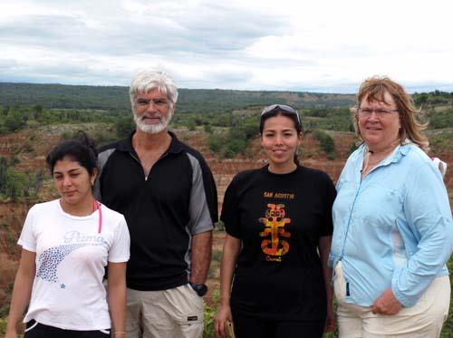 Two women from Bogota and us - Tatacoa Desert