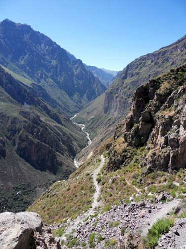 Colca Canyon from the start of the trail
